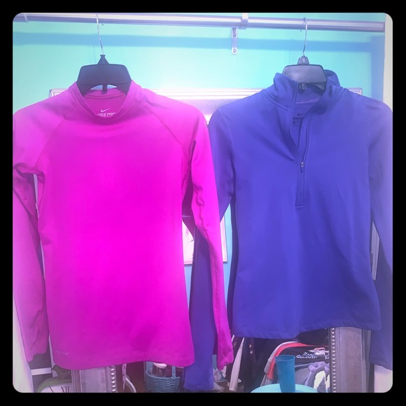 Nike Tops - Nike long sleeve lined thermal workout tops